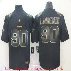 Cowboys #90 Demarcus Lawrence Black Jersey
